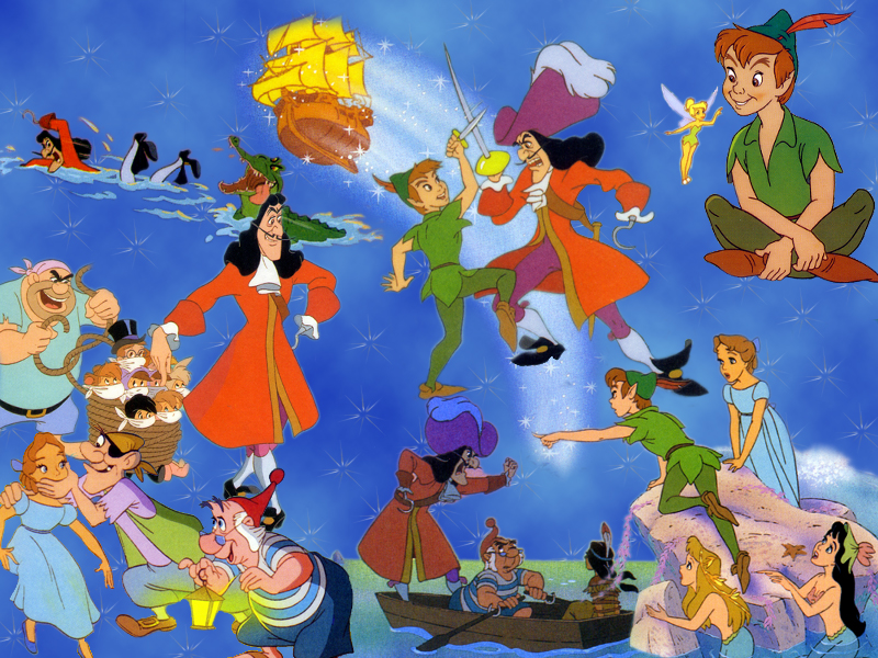 Piratical peter pan in text and film for Disegni peter pan